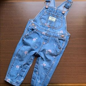 Baby girl OshKosh Overalls with Floral Design